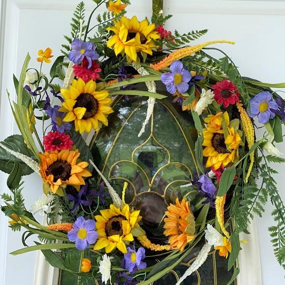 Colorful Sunflower Wreath💕